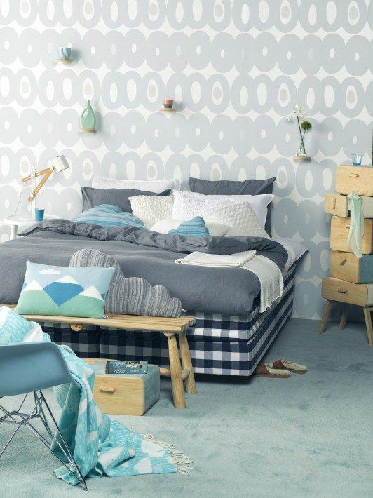Slaapkamer - Behang hoofdbord ...