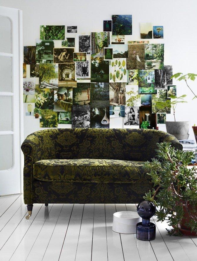 een groen interieur