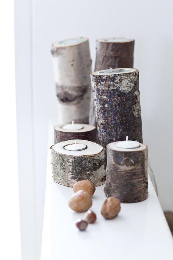 houten kaars