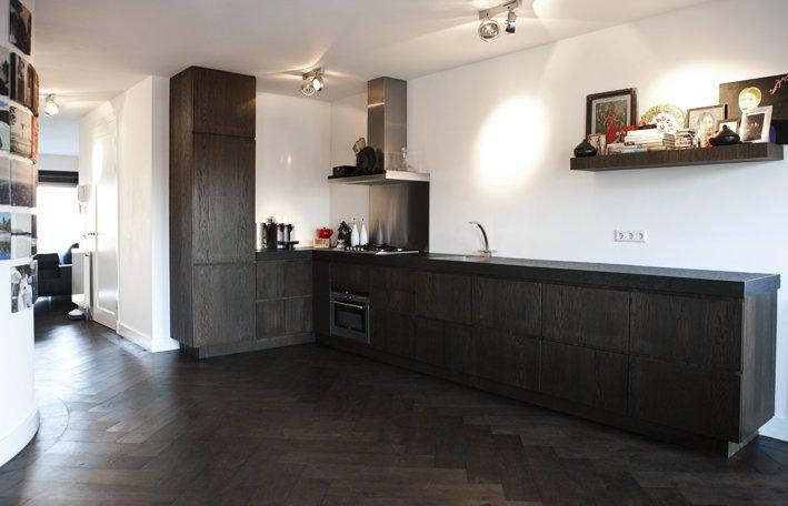 Keuken kopen - Centrale eiland houten keuken ...