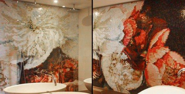 Mozaiek Tegels Achterwand Keuken : Moza?ek aan de wand
