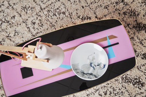 Limited edition bord van keramiek van Bouke de Vries