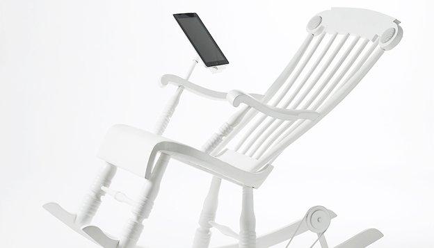 moderne schommelstoel