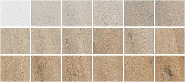 Kleuren voor witte houten vloeren.