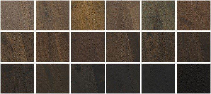Kleuren zwarte houten vloeren.