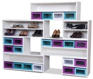 Kleurige schoenenkastinterieur website for Zapateras modernas para closet