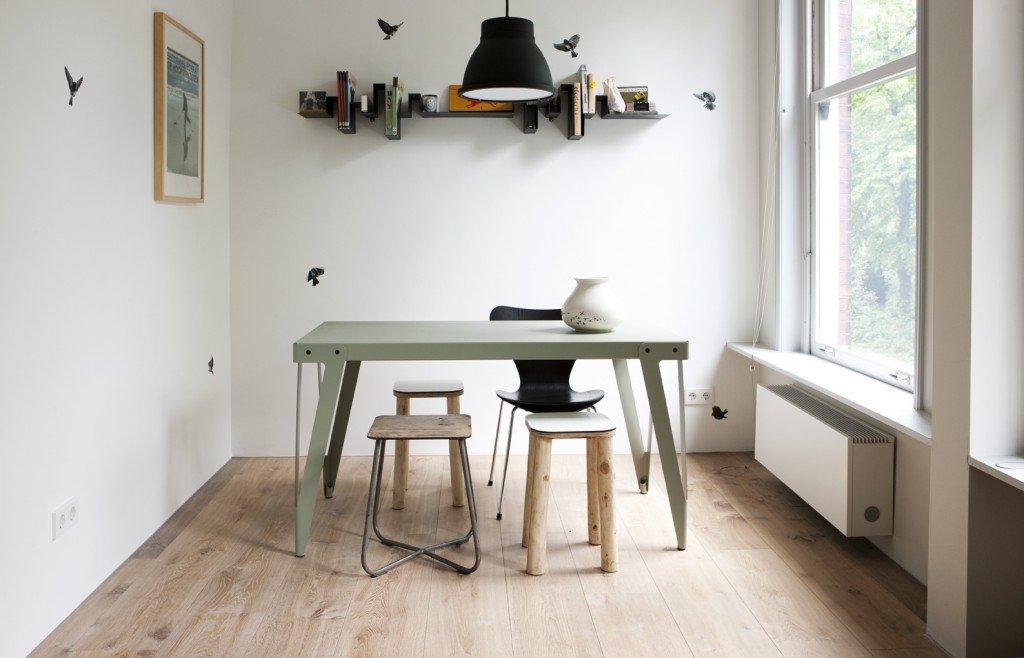 Houten vloereninterieur website