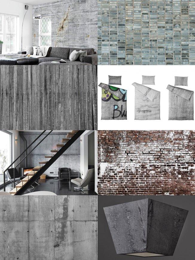 Het modern industriële interieurinterieur website