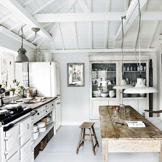 Landelijke keukens - Moderne oude keuken ...